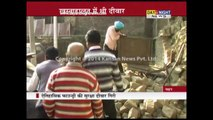 Wall collapse in Nahan