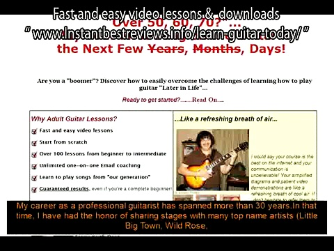 how to learn guitar for free   Adult Guitar Lessons Fast and easy video lessons