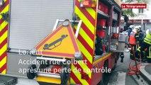 Lorient. Accident rue Colbert après une perte de contrôle