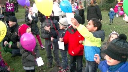 Téléthon 2014 : lacher de ballons à Kaltenhouse (67)