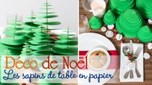 Des sapins de papier pour décorer sa table de Noël - DIY