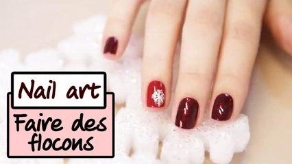 Le nail art flocons pour Noël - Tuto manucure
