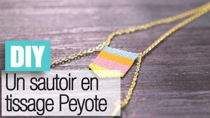 Faire un sautoir en tissage Peyote - DIY bijoux