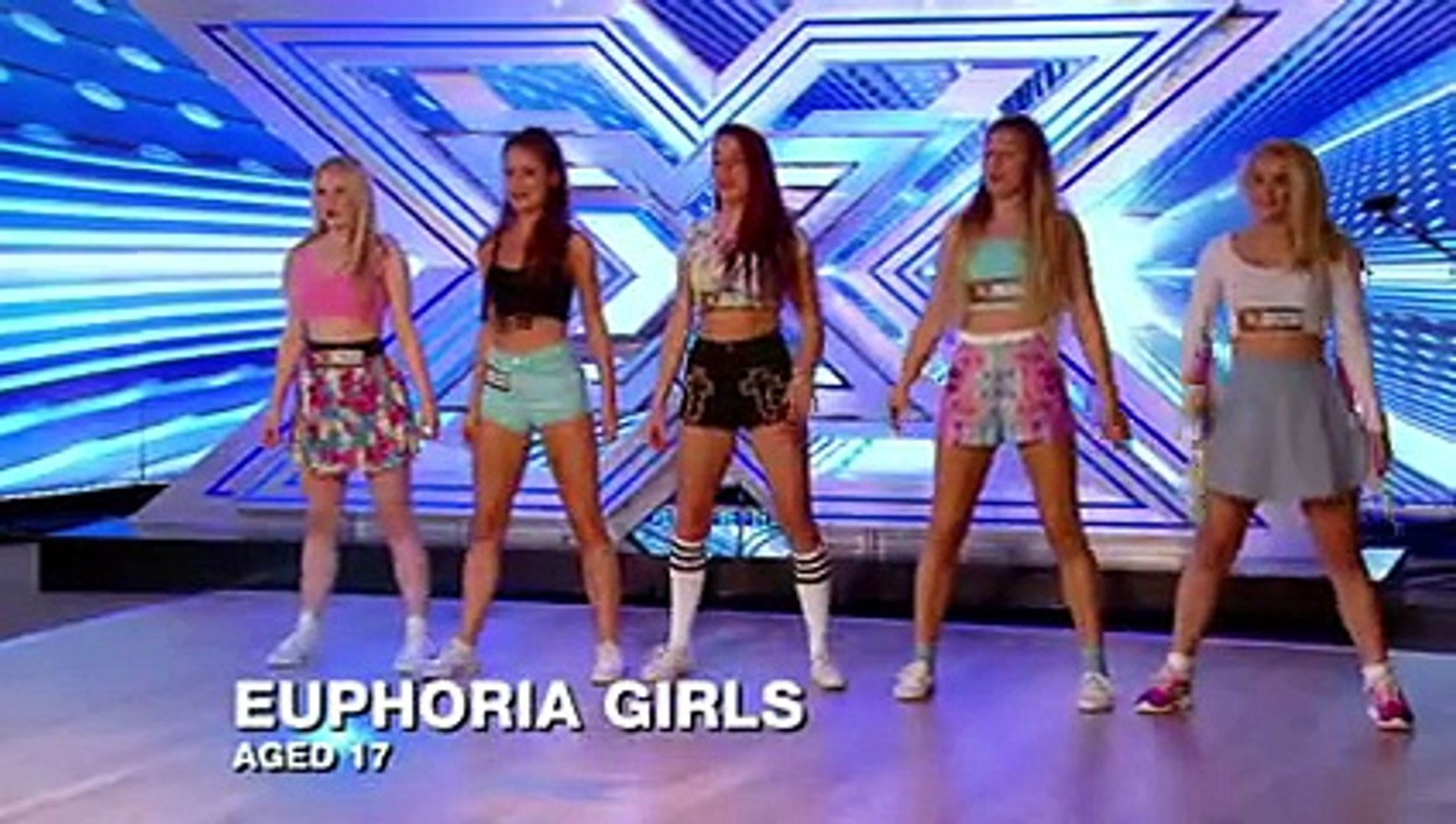 Euphoria Girls sing I'm In The Mood For Dancing - Room Auditions Week 1 -- The X Factor 2013 -