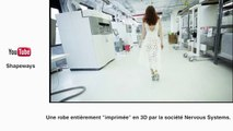 Une robe imprimée en 3D - le zapping insolite