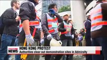 Hong Kong police clear out protest site in Admiralty