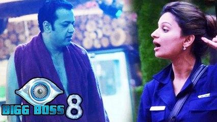 Dimpy's Husband Rahul Mahajan Enters House | Bigg Boss 8