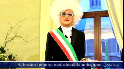Nel bresciano il primo matrimonio celebrato da una drag queen