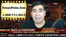 Carolina Panthers vs. Tampa Bay Buccaneers Free Pick Prediction NFL Pro Football Odds Preview 12-14-2014