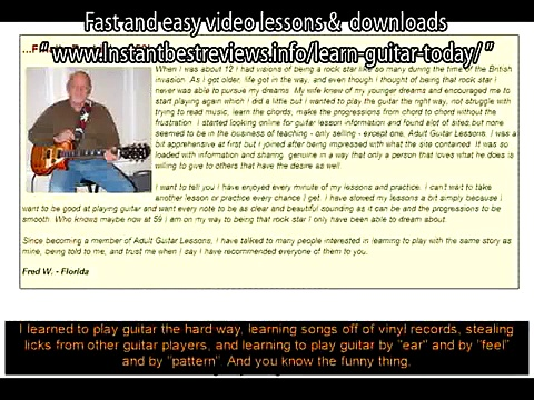 how to learn guitar for beginner   Adult Guitar Lessons Fast and easy video lessons
