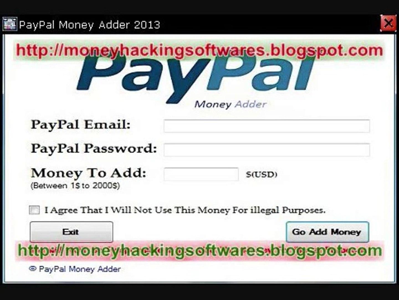 PayPal Money Adder 2013