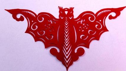 Découpage traditionnel chinois : Papillon Sphinx 2-2
