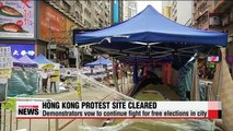 Hong Kong pro-democracy activists to push ahead despite protest site clearance