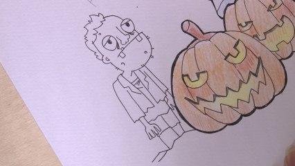 Illustration Halloween 3-5 : Zombie
