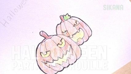 Illustration Halloween 1-5 : Citrouille