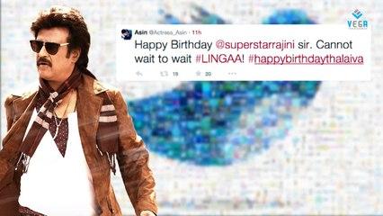 Celebirities Birthday Wishes To Rajinikanth on Twitter : Latest Tamil Film News