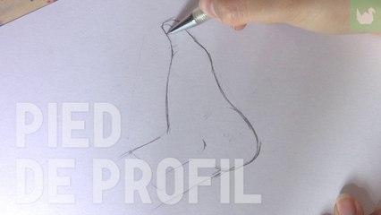 Dessiner un pied de profil