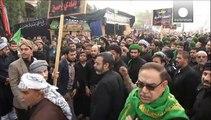 Tight security as millions of Shiite Muslim pilgrims stream into Kerbala, Iraq