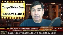Free Saturday College Basketball Picks Predictions Betting Previews Odds 12-13-2014