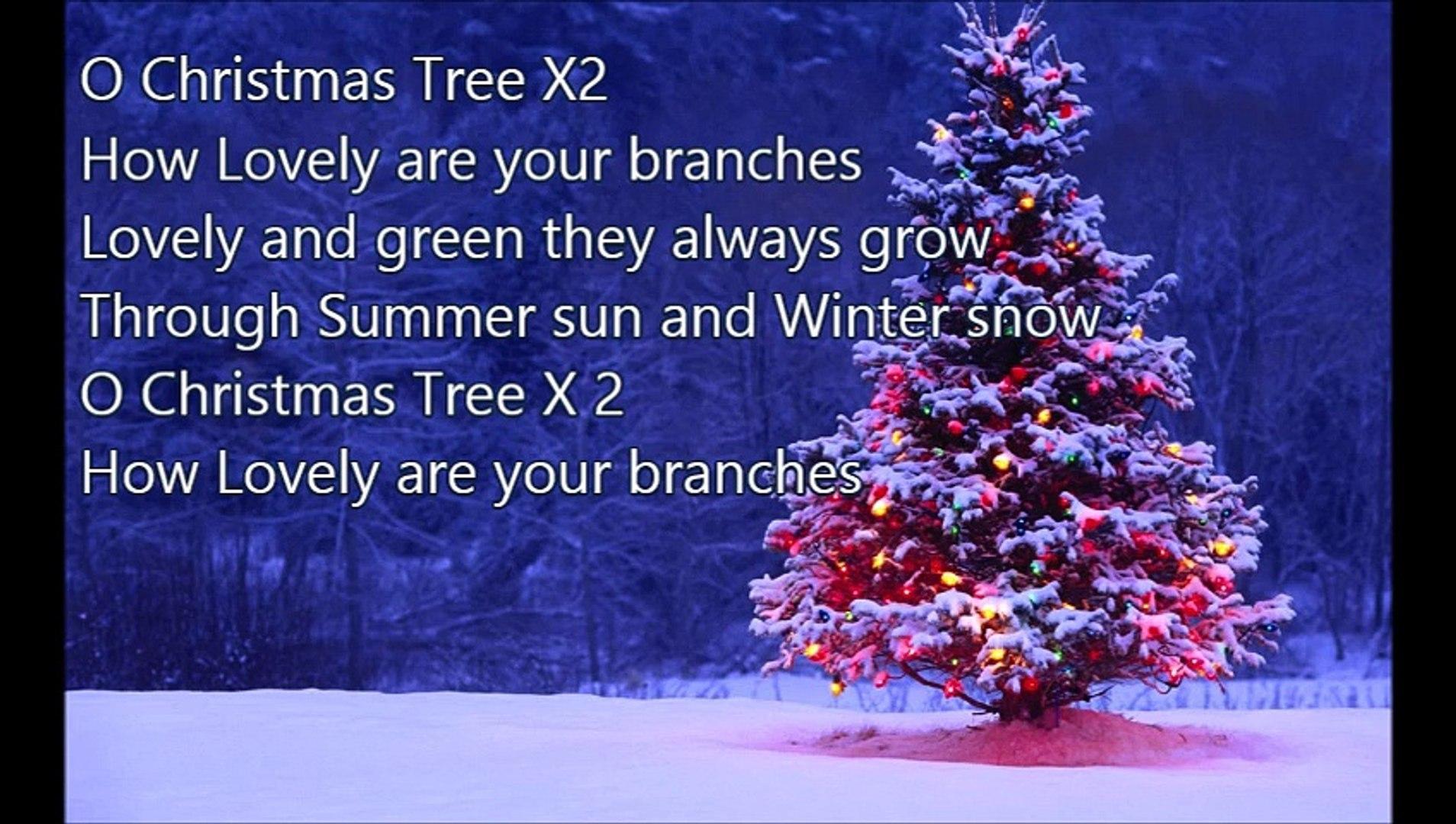 o christmas tree text