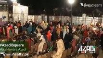 Haq Nawaz Shaheed-e-Faisalabad Brother Address from Azadi March Container