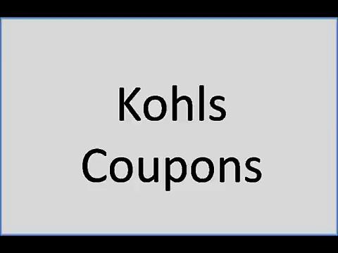 Kohls coupons