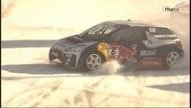 Sébastien Loeb sur la glace du Trophée Andros