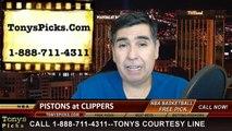 LA Clippers vs. Detroit Pistons Free Pick Prediction NBA Pro Basketball Odds Preview 12-15-2014
