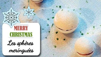 Meringues à la crème de marrons - Recette dessert Noël