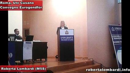 Roberta Lombardi Convegno alla Unicusano, Eurogendfor