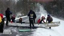 Avez-vous déjà vu du kayak de neige ?