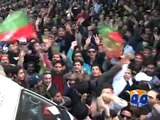 PTI workers,Abuse Geo News Anchorperson Sana Mirza-Geo Reports-15 Dec 2014