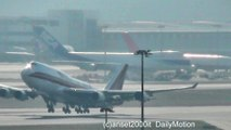 Boeing 747-400 Freigther Kalitta Air and KLM. Hong Kong Airport Takeoff