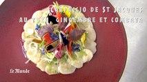 Recette de saison : le carpaccio de St Jacques aux légumes croquants