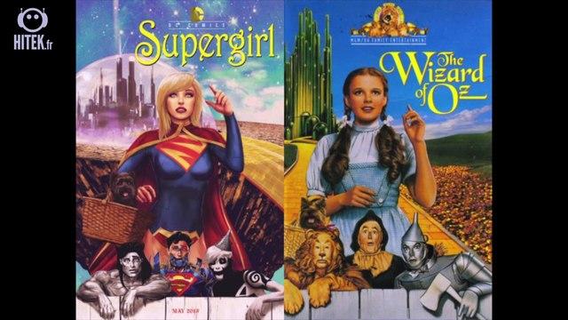 Les super-héros DC Comics s'invitent sur des affiches de films cultes