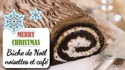 Bûche de Noël noisettes / café - Recette de Noël