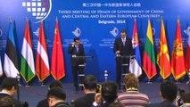 """Çin, Orta ve Doğu Avrupa Ülkeleri Hükümet Başkanları Zirvesi"""" Basın Toplantısı"""