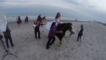 Quand la mariée tombe de cheval en pleine séance photo de mariage! Pire jour de sa vie...