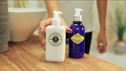 Latte Struccante Karité: pelle pulita e morbida senza l'utilizzo di acqua.