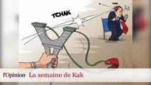 Dessin de Kak : Vladimir Poutine dans le mazout, François Hollande assommé par Anne Hidalgo
