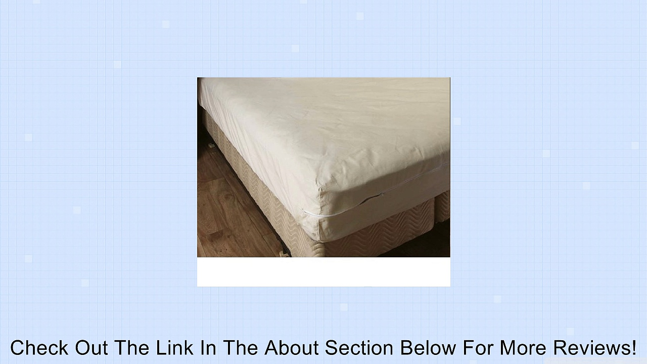 College Dorm Unbleached Cotton Mattress Cover,Twin Extra Long, Zips around the mattress Review