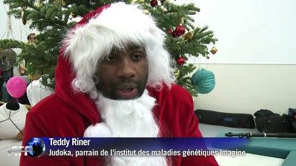 c82f77fa9f500 Teddy Riner joue les Pères Noël pour les enfants malades