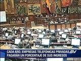 Proponen que telefónicas paguen tributos al Estado según número de abonados