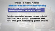 Want To Know About Exterior and Interior Remodeling