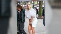 Lady Gaga Has A Wardrobe Malfunction in New York