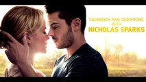 Facebook Fan Questions with Nicholas Sparks - Zac Efron as Logan in The Lucky One