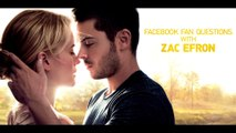 Facebook Fan Questions with Zac Efron - His Love for Dogs