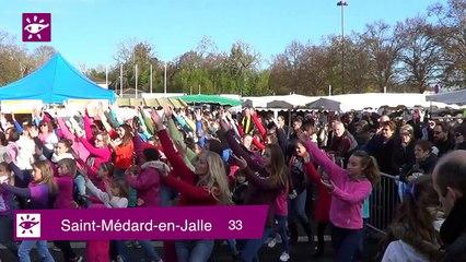 Téléthon 2014 : Flash-mob et animations à St Médard-en-Jalle (33)