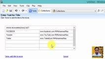 Add Movie Titles and Credits in Windows Movie Maker in Urdu