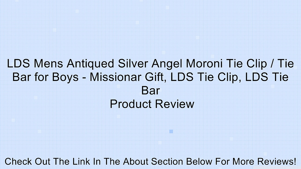 LDS Mens Antiqued Silver Angel Moroni Tie Clip / Tie Bar for Boys – Missionar Gift, LDS Tie Clip, LDS Tie Bar Review